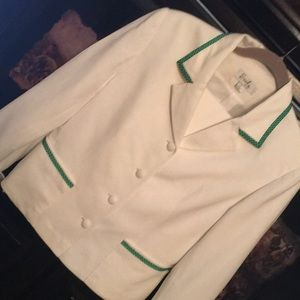 Gorgeous white linen fully lined quality suit